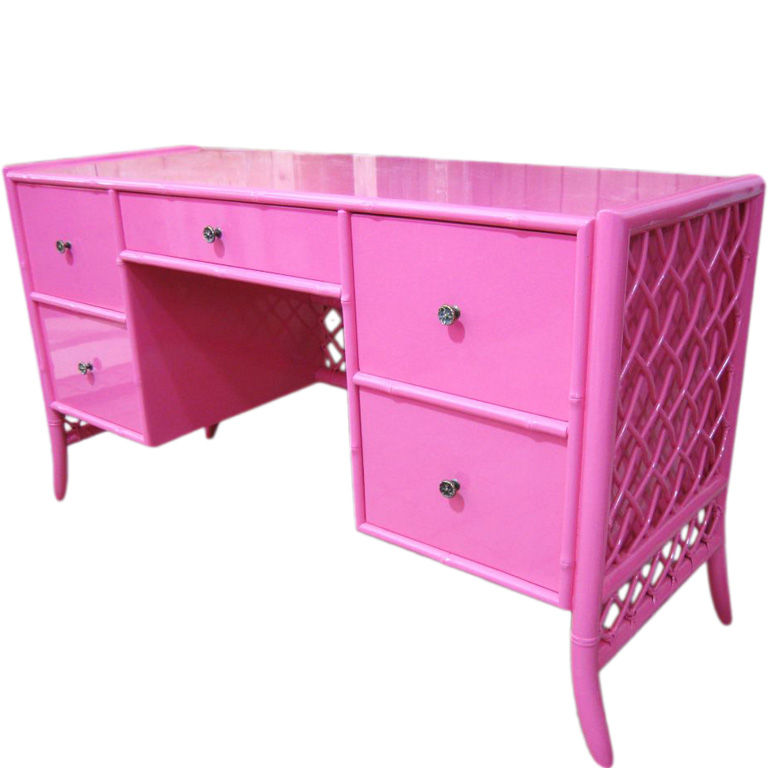 Kris Likes… The Very Pink Of Perfection  Kristen Laird Design. Sit Stand Desk Amazon. Mixing Desk Furniture. Desk Chair Covers. Utility Cart With Drawer. Sevice Desk. Desk Metal. West Elm Office Desk. Grey Side Table