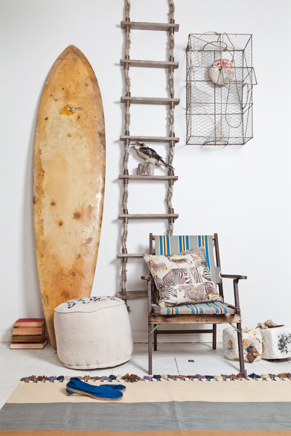 Kris likes surfboard decor kristen laird design for Surf decoration