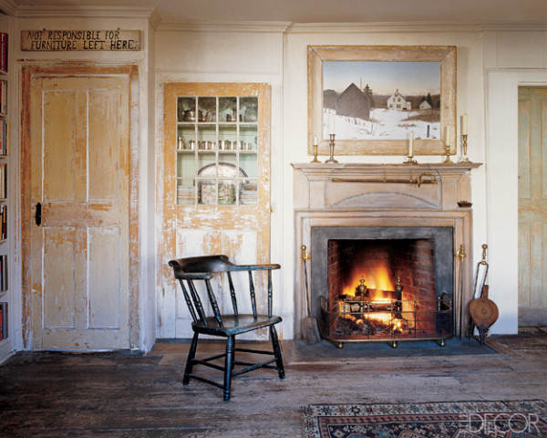 Downstairs parlor of painter John Dowd's Provincetown, Massachusetts, home.  Elle Decor Dec 2006