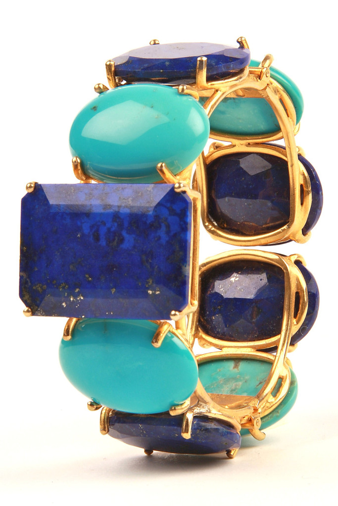 Cuff with Lapis and Turquoise