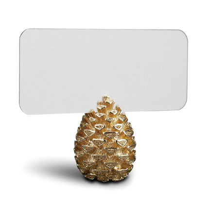 L'Objet Pinecone Gold Placecard Holder