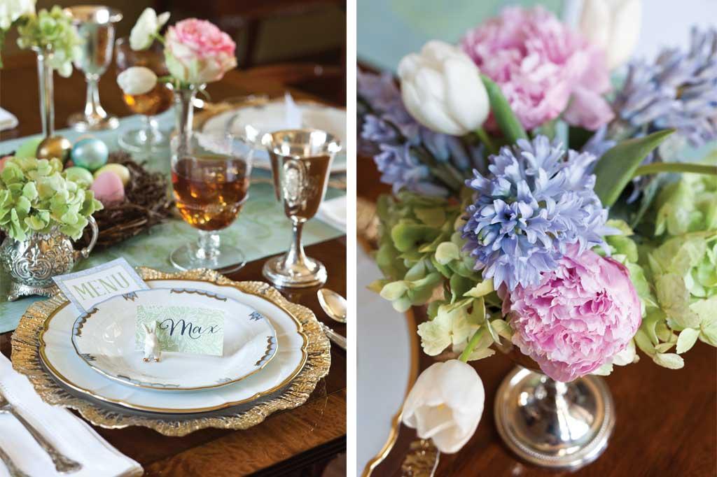 Kris likes kristen laird design for Elegant easter table decorations