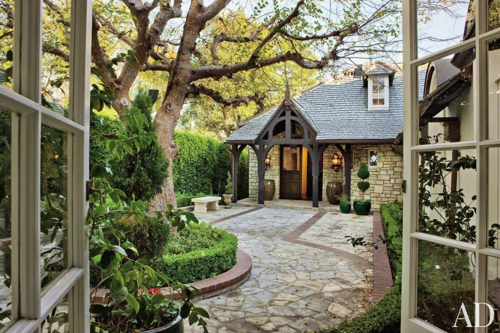 RUSTIC EXTERIOR BY LANE-MCCOOK & ASSOCIATES - Kelsey Grammers Home in Los Angeles, CA